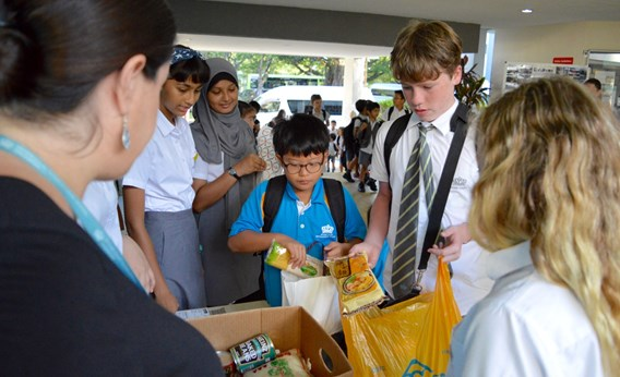 DCIS Food Drive, Day 2 2017
