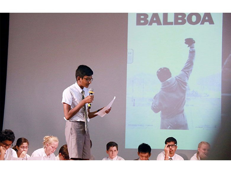 Secondary School Assembly Resilience by 8HB and 8ST