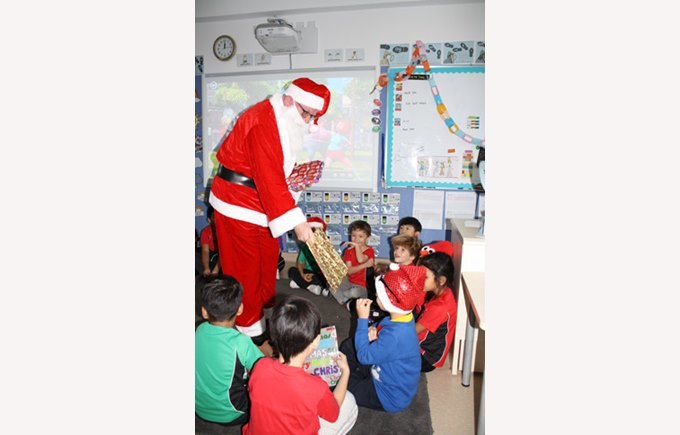Christmas book giving