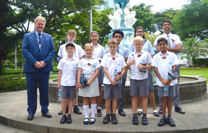 DCIS Students represented the school at a wreath laying ceremony by HRH The Prince of Wales