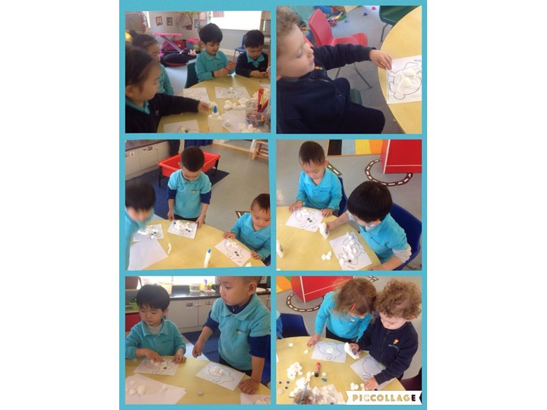 Making and creating in Pre-Nursery 2