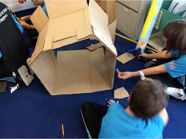 Y6 building a 'wind table'