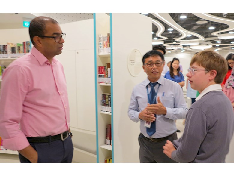 INRL Students meet Singapore's Senior Minister of State, Mr. Janil Puthucheary