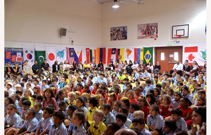 Gharaffa International Week Assembly