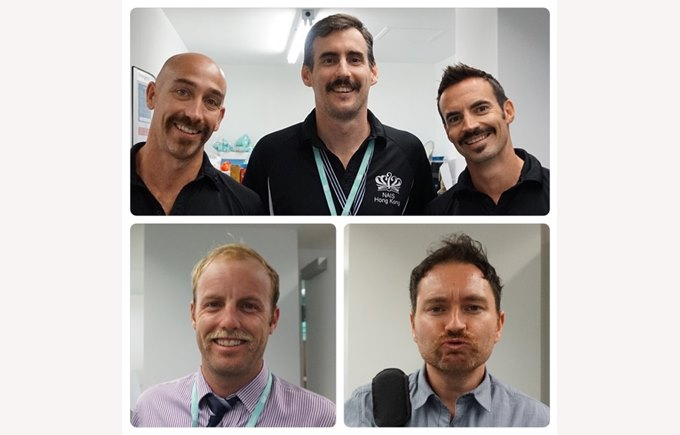 Mo bros and sista raised almost HK$18,000 for Movember Foundation!