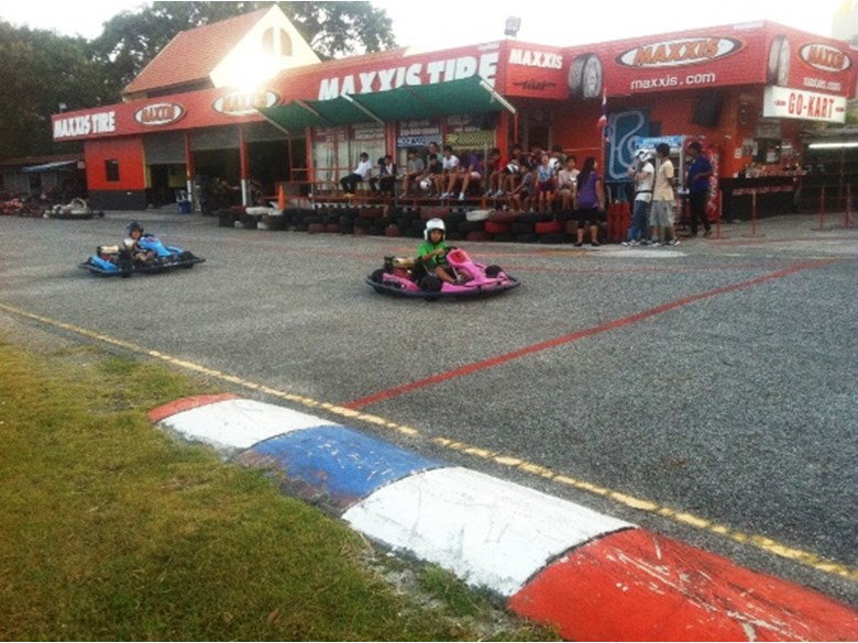 Regents' boarders enjoy go-karting