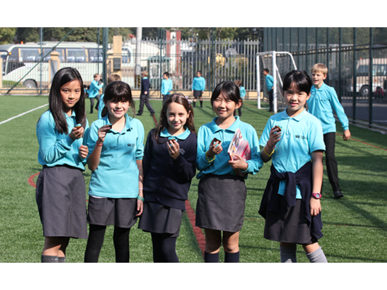 Students and guests at the British International School Shanghai, Puxi celebrate their 10th anniversary