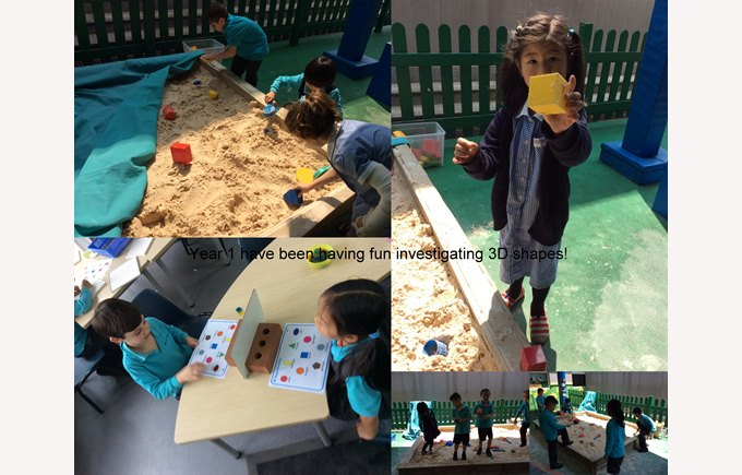 Year 1 explore 3D shapes