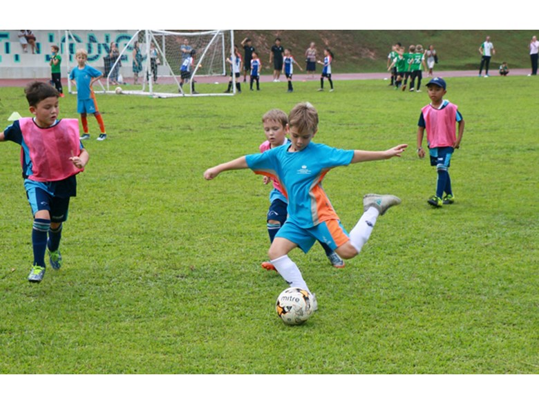 Under 8 Boys football at Dover Court International School
