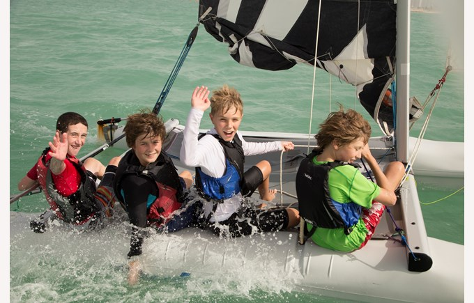 Students enjoy sailing