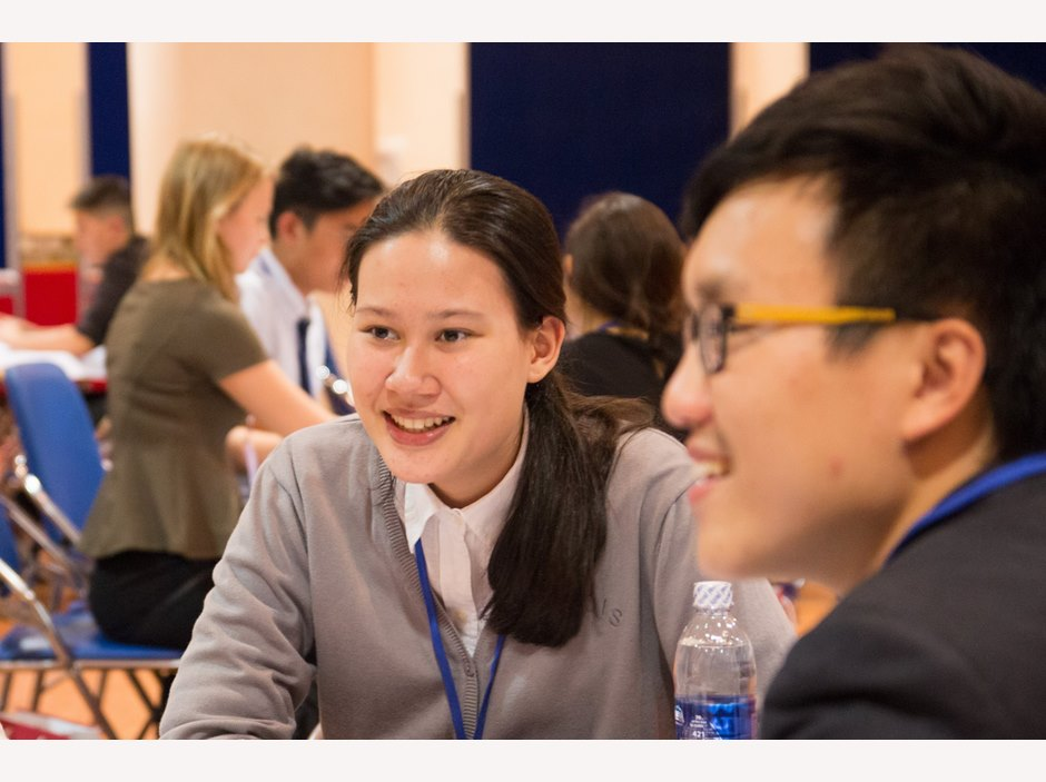 Students discussing in FOBISIA Student Leadership
