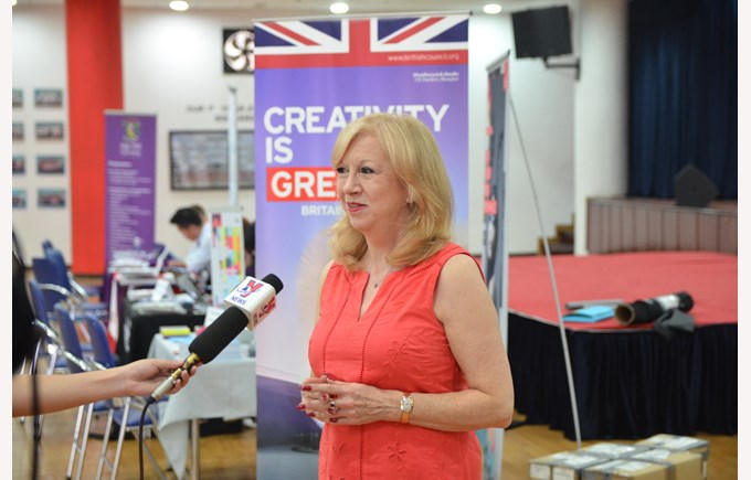 Mrs. Eleanor Laing visit British International School Hanoi