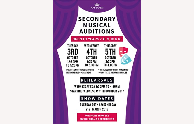 Secondary Musical Auditions