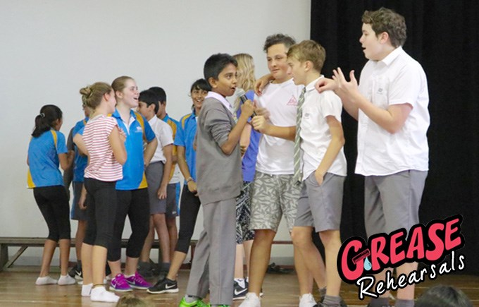 Grease Rehearsals