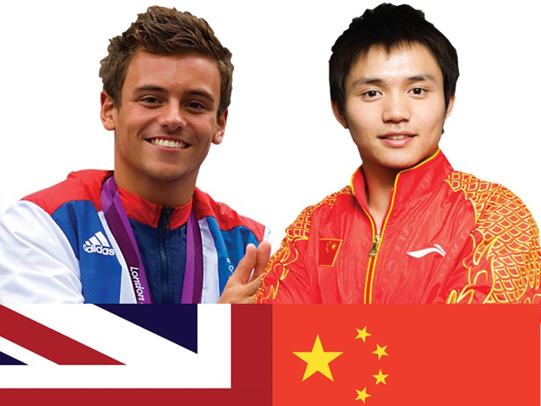 The British International School Shanghai, Pudong Hosts Olympic Divers Tom  Daley and Qiu Bo
