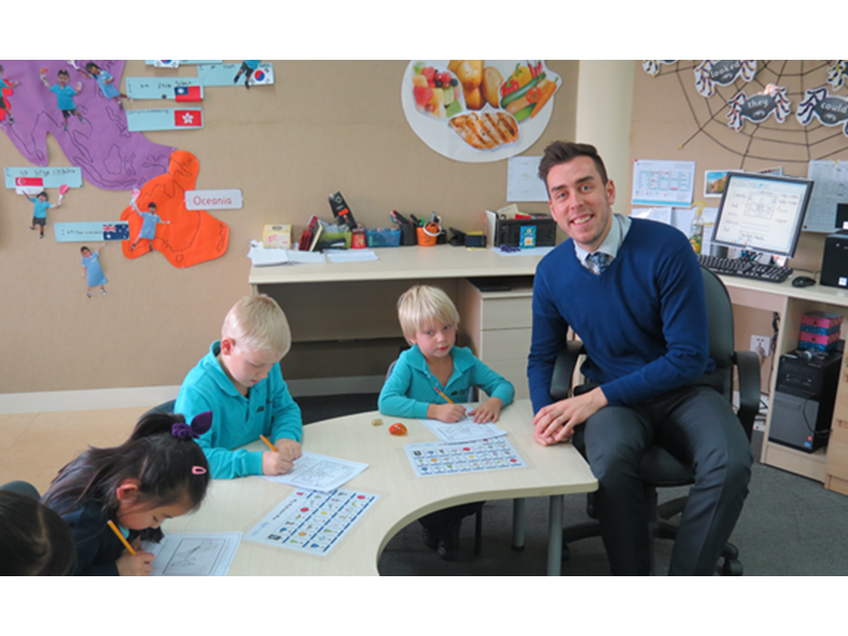 Dean Clayden, Head of Year 1 at the British International School Shanghai, Puxi