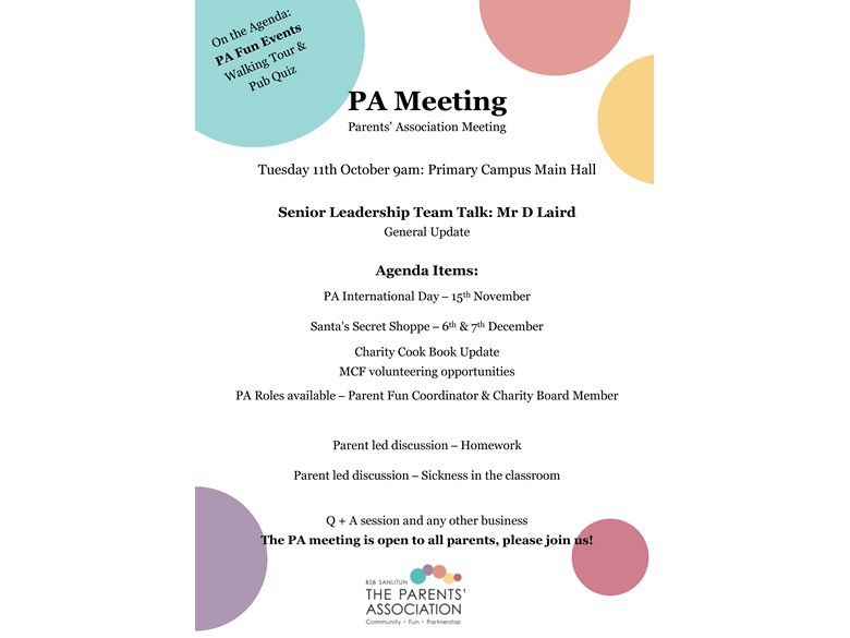PA Meeting Poster_11th October