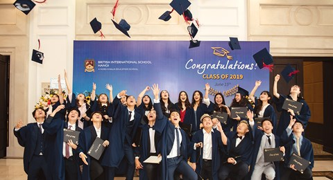 BIS Hanoi's Class of 2019 at their Graduation Ceremony