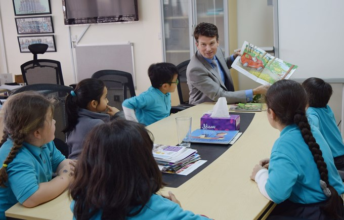 DP reading with kids