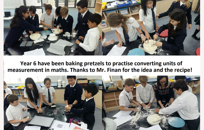 Year 6 make pretzels