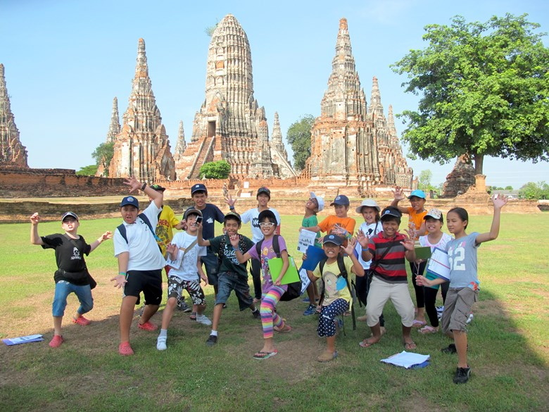 Primary kids of Regents School Pattaya at Ayutthaya
