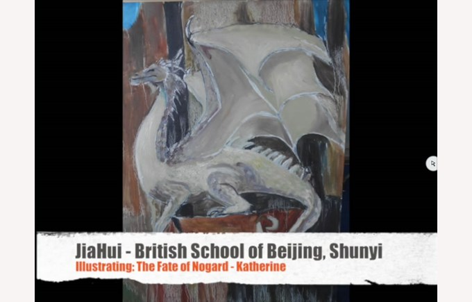 JiaHui winner of Visual Arts competition 2015-2016