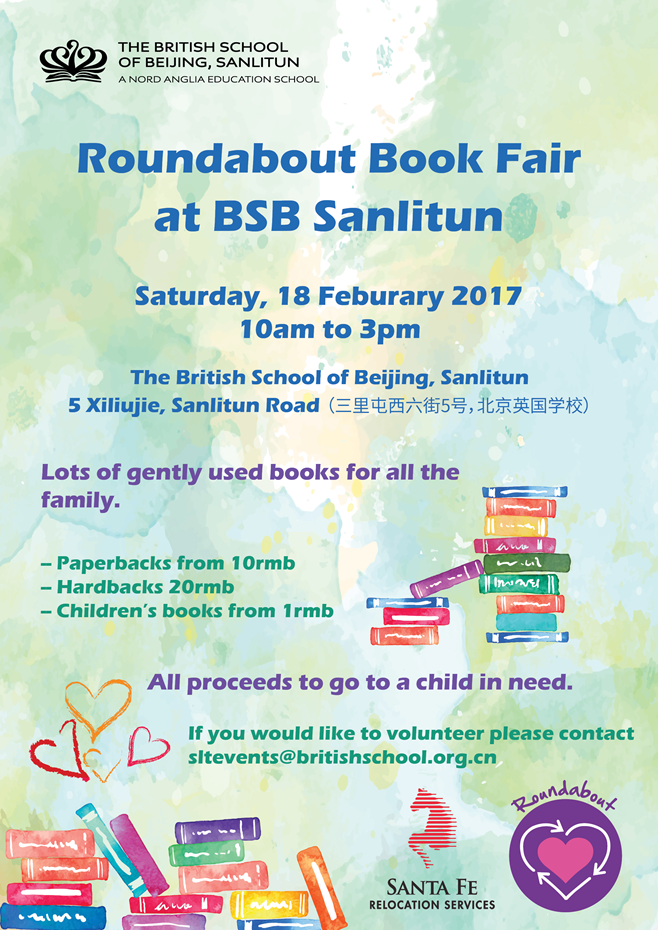 Roundabout Book Fair poster