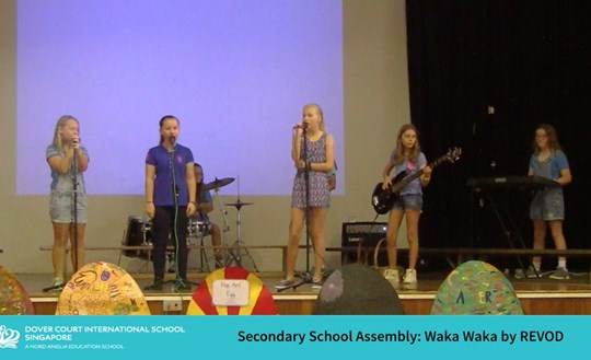 REVOD Performs at Secondary School Assembly