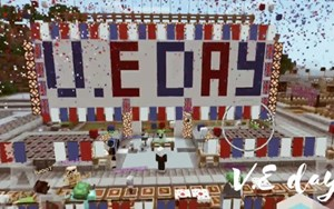 Y6 VE Day in Minecraft