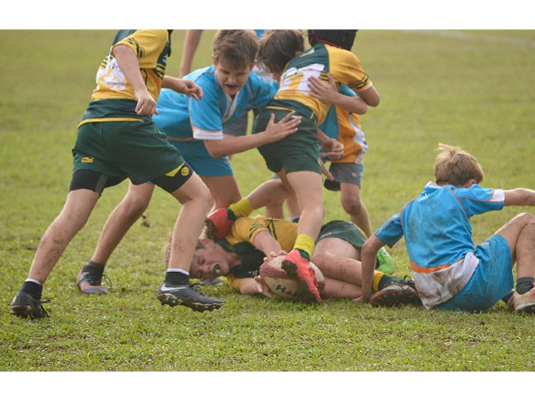 Under 12 Boys Rugby Team vs AIS