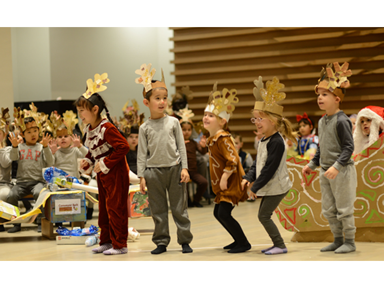 Early Years Cubs students at BISS Puxi put on their annual Christmas Play