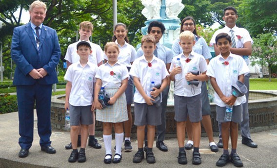 DCIS Students Attended HRH The Prince of Wales Ceremony