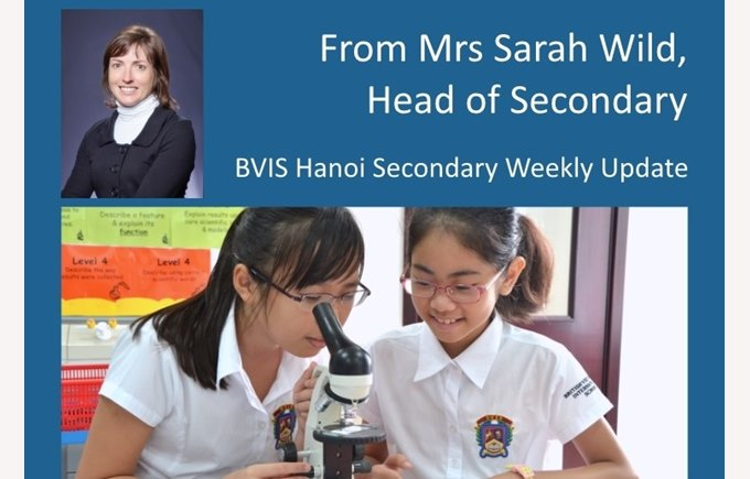 Secondary weekly update 20150911