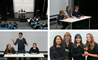 Year 9 students at BISS Puxi presenting in the annual Youth Speaks competition.