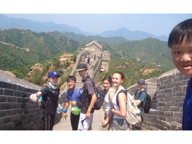 Secondary students at the British International School Shanghai, Puxi on their Activities Week trips