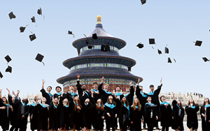 Graduates celebrating in China