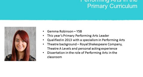 Performing Arts in Primary
