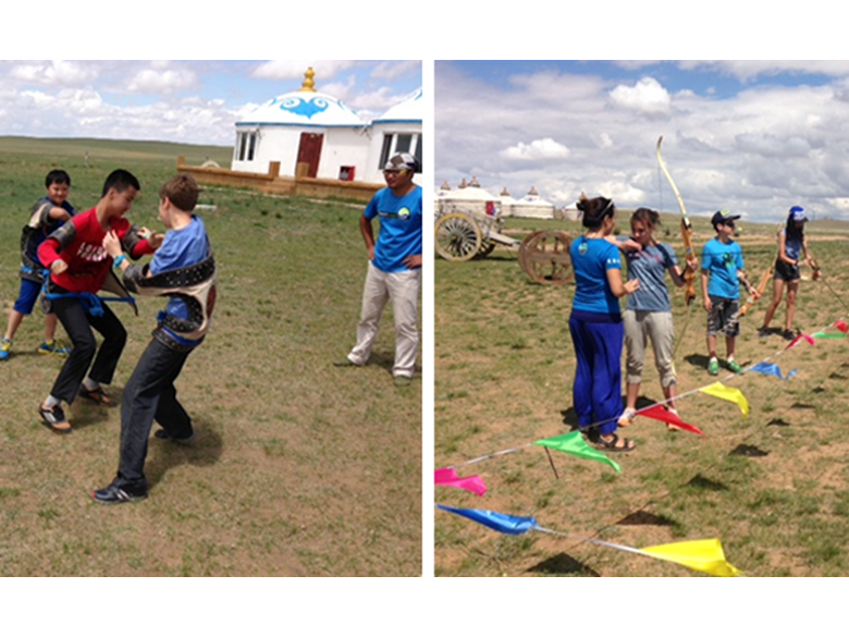 Year 8 learning about wrestling and archery in Inner Mongolia