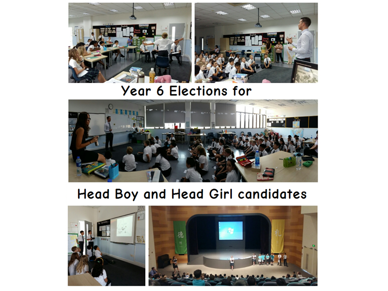 Year 6 elect their candidates for Head Boy and Head Girl