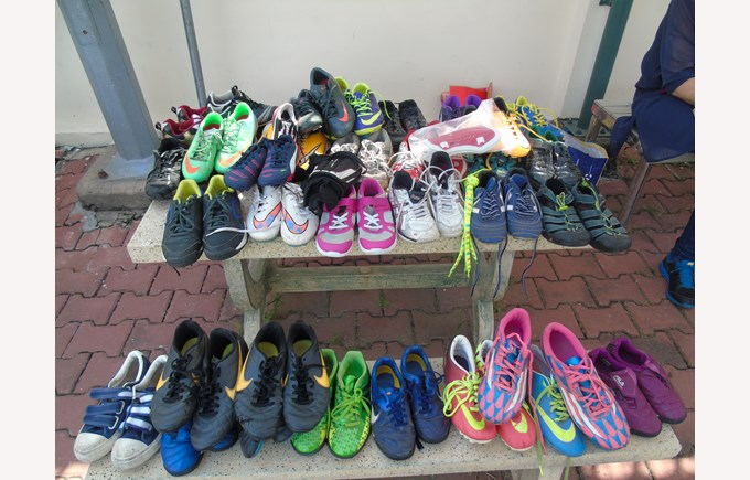 Community Football Tournament BISHCMC Donated shoes