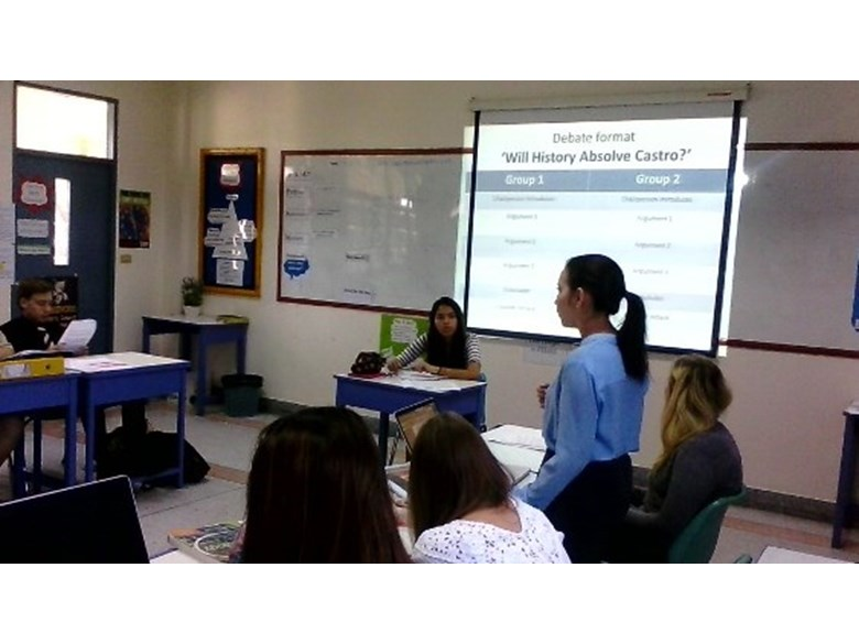 Regents' students engage in a debate
