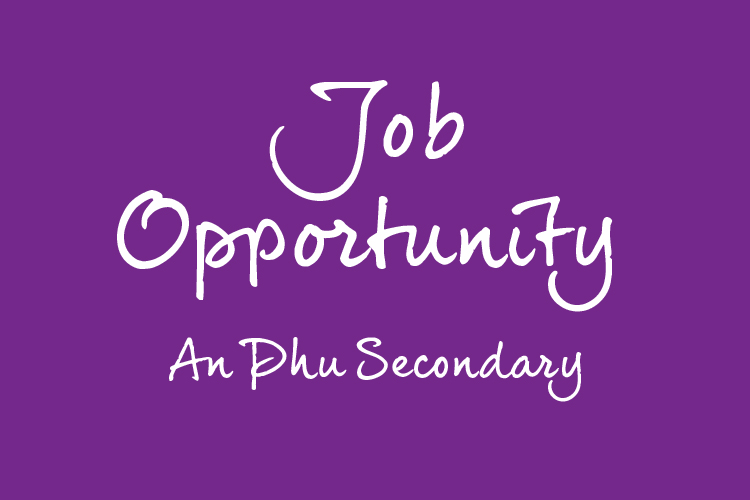 Job Opportunity – An Phu Secondary Campus