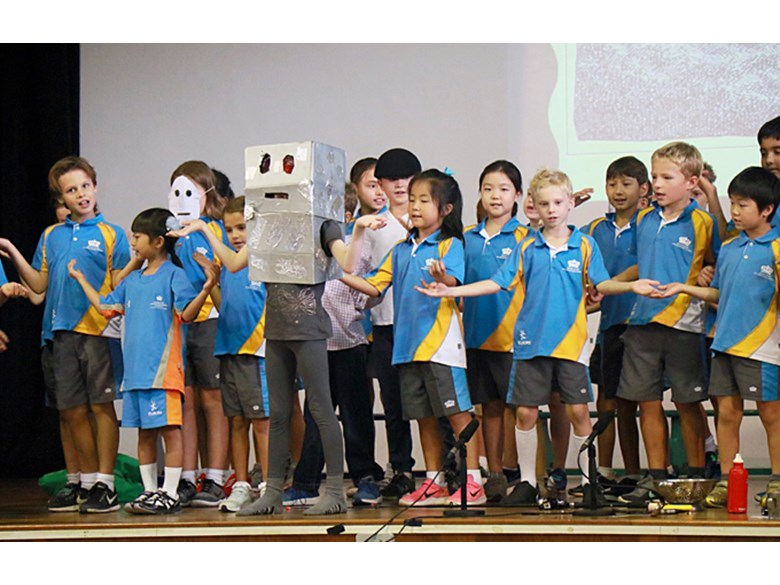 The Iron Man at the Primary Assembly