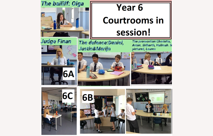 Year 6 Courtrooms in Session