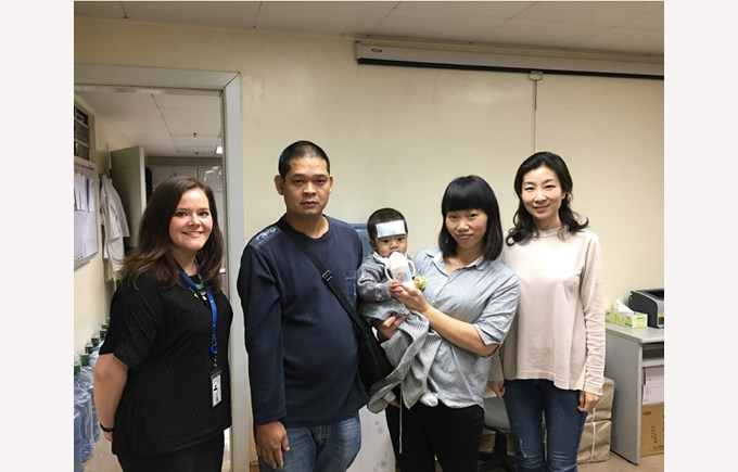 Meeting a family with Hopeful Hearts