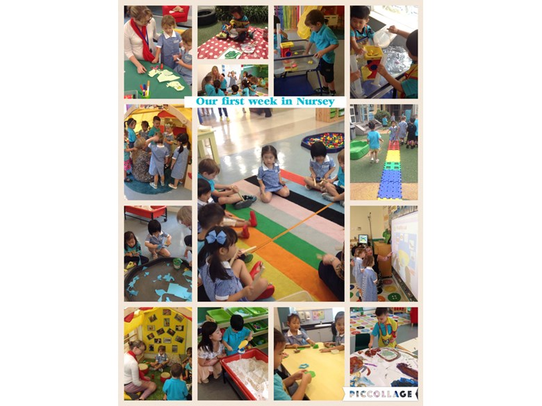 Our first week in Nursery