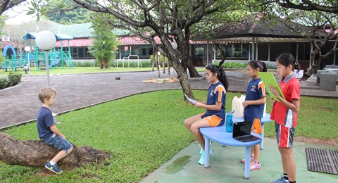 NIS Jakarta students in their interview session for World Children