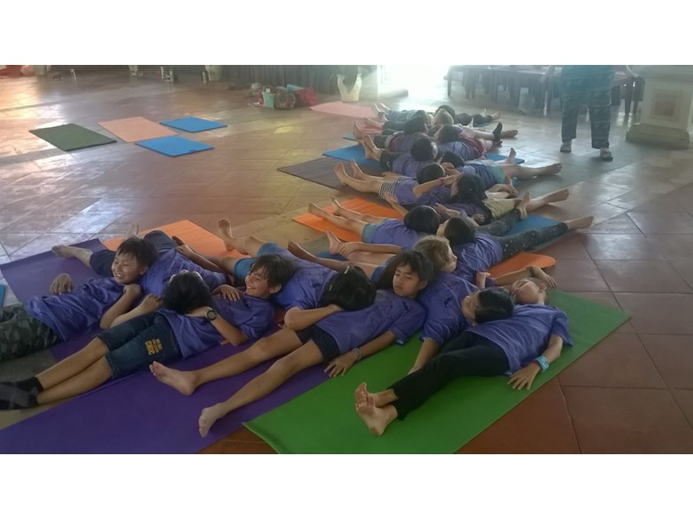 APP Year 4 Yoga Session in Long Hai