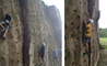 Year 9 doing some rock climbing