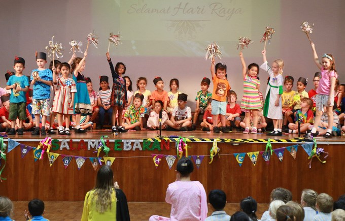 Year 1AP, 1AS and 1AH Assembly - Hari Raya Puasa
